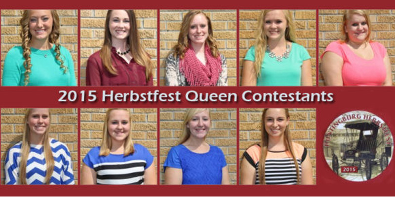 Contestants For Herbstfest Queen Pageant
